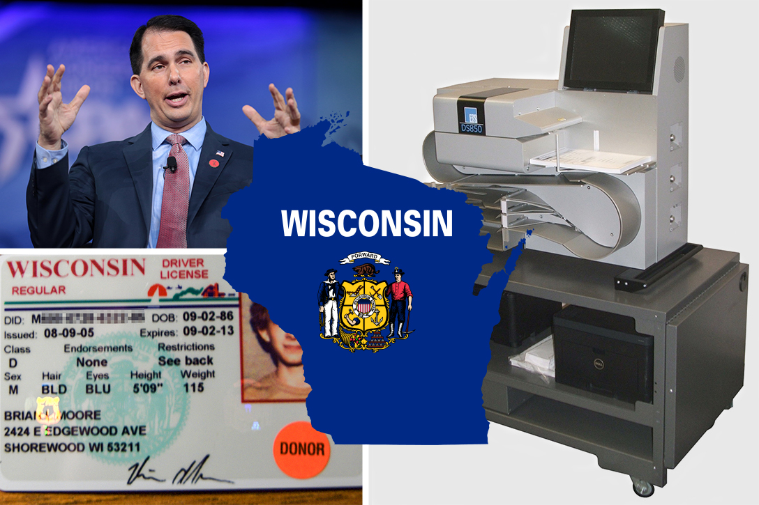 voter ID, Wisconsin, ES&S, Scott Walker