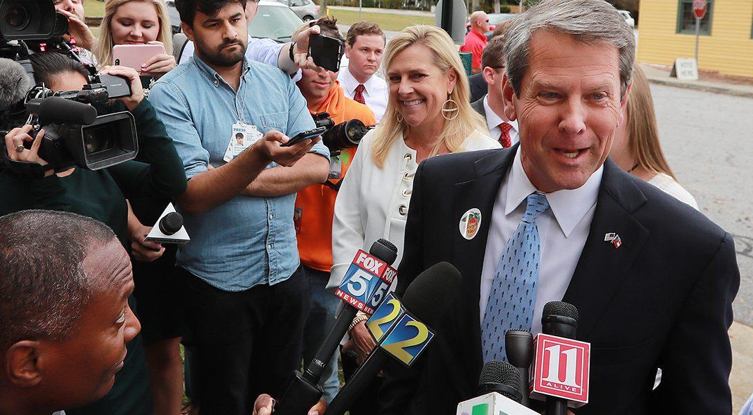 Brian Kemp, election day, 2018