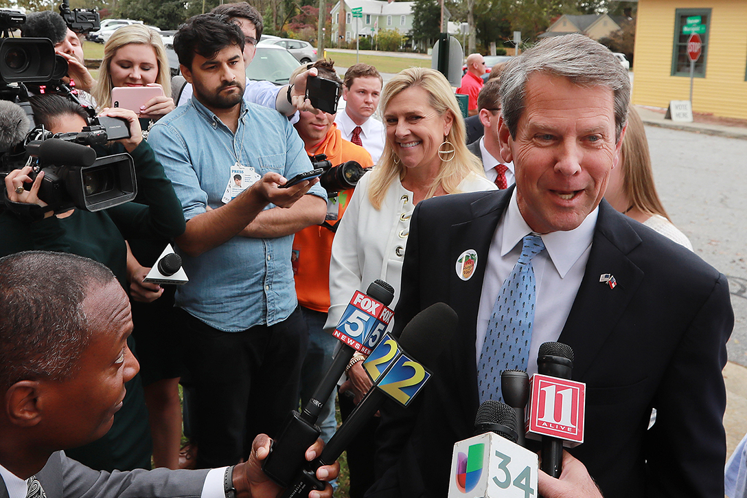 Brian Kemp, election day, 2018