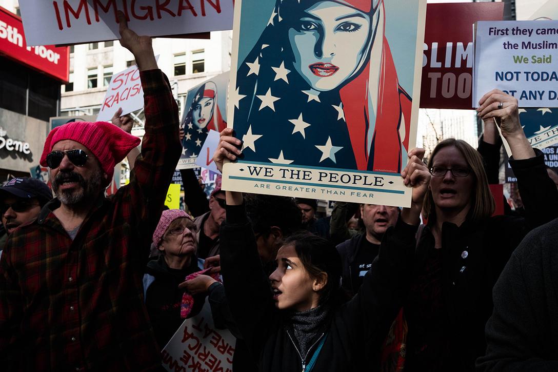 Muslim ban, rally