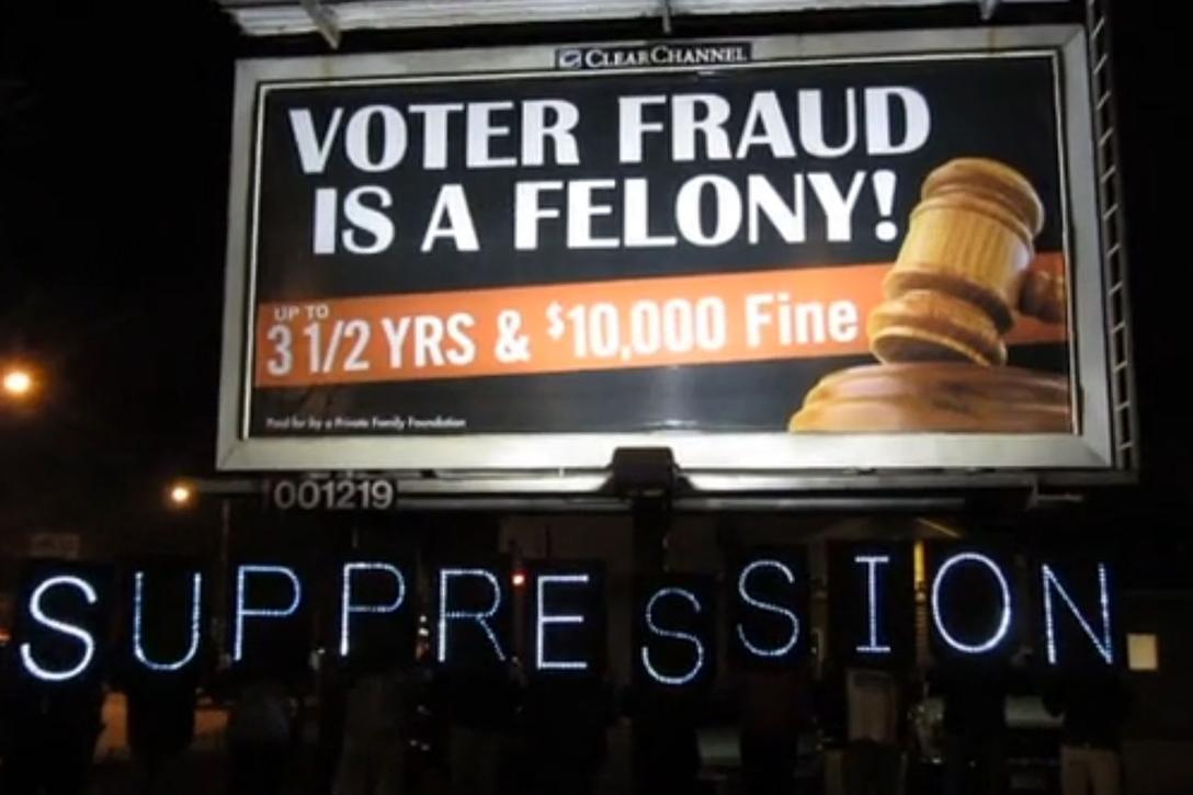 voter fraud, voter suppression