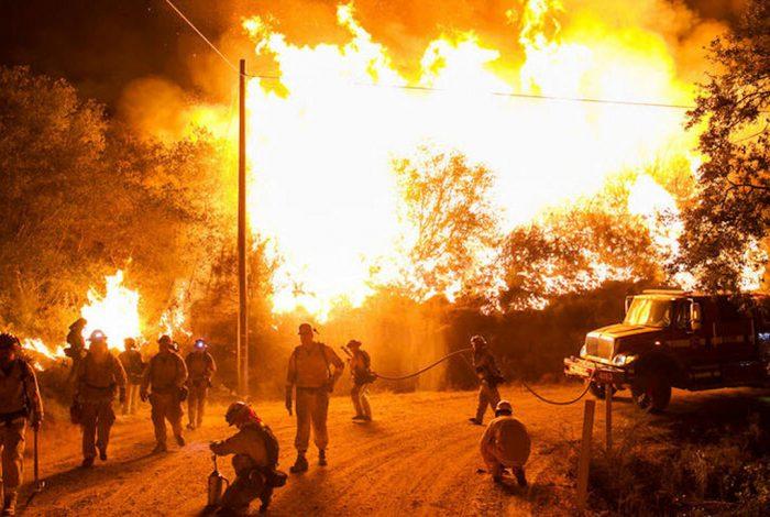wildfire, Northern California