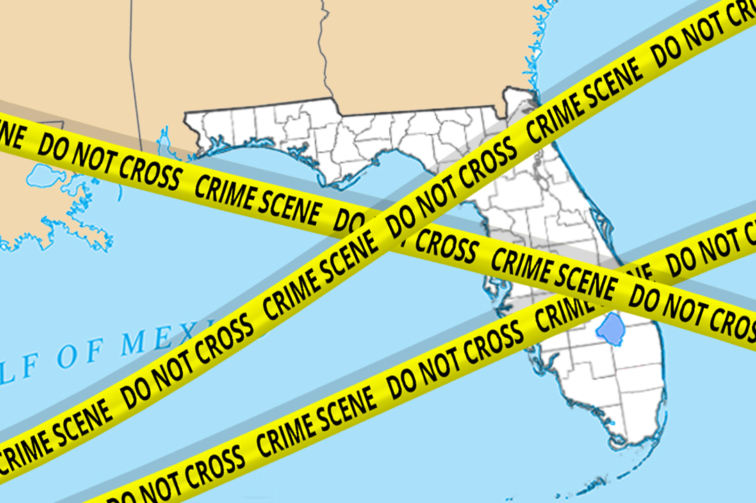 Alt Text: Florida, election, crime scene