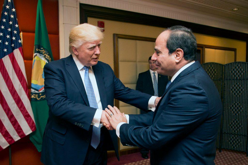Donald Trump, Abdel Fattah Al Sisi