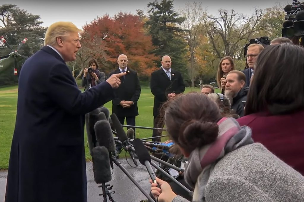 Donald Trump, press