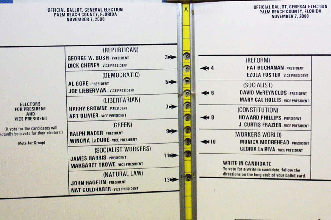 Palm Beach County, ballot, 2000