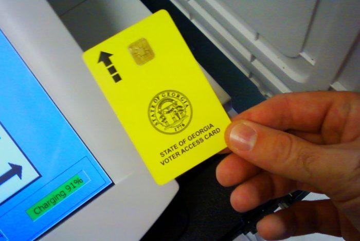 Diebold, voting machine, voting card