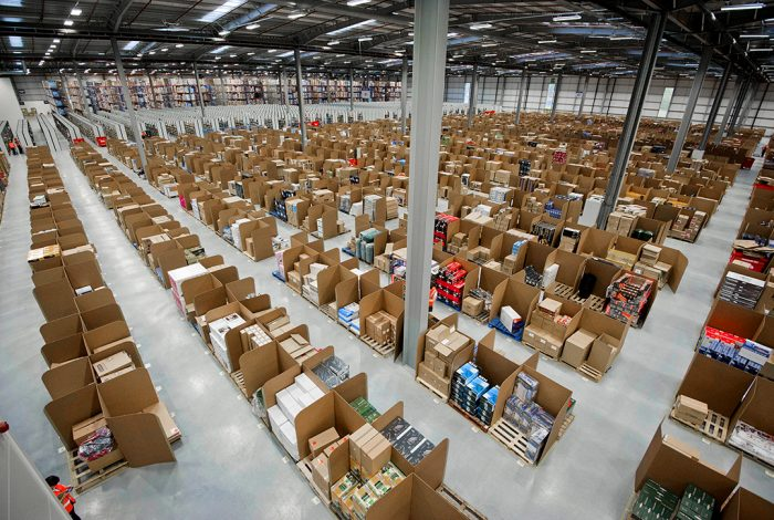Amazon, boxes, Interior Landscape