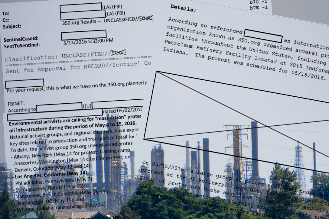 FBI documents, BP, refinery