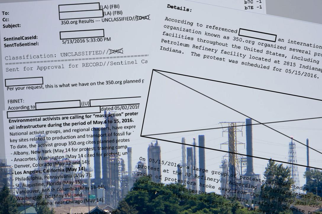 FBI documents, BP, refinery