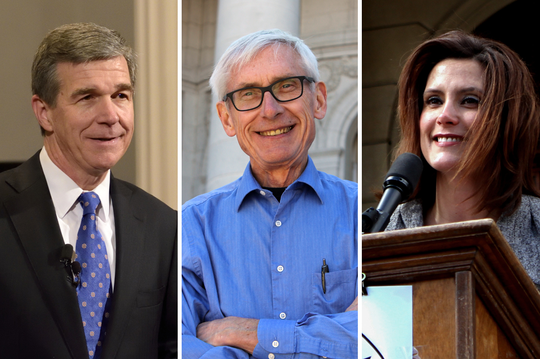 Roy Cooper, Tony Evers, Gretchen Whitmer