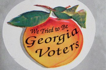 Georgia election, voters, sticker