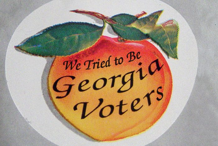 Georgia election, voters, sticker