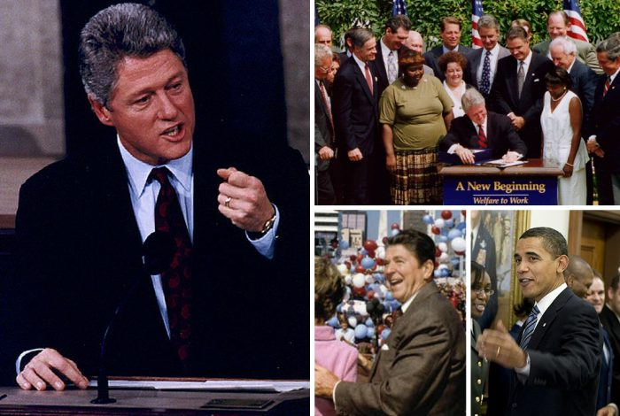 Bill Clinton, Ronald Reagan, Barack Obama, Aid to Families with Dependent Children, AFDC