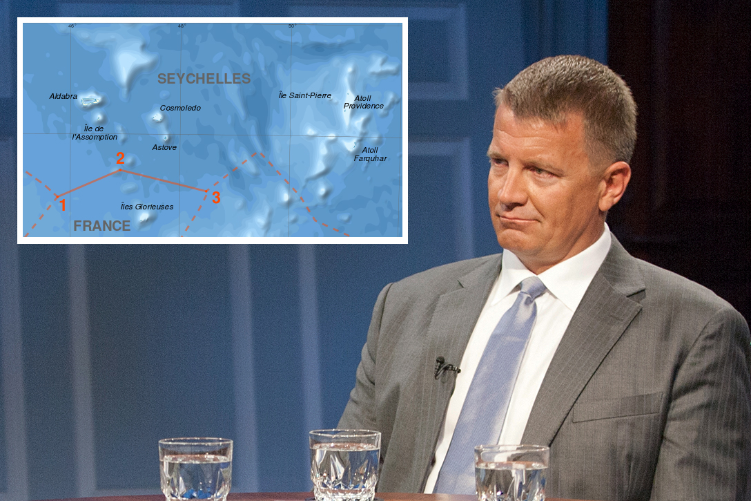 Erik Prince, Seychelle Islands