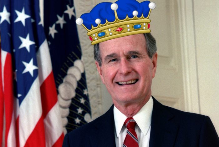 George H.W. Bush, king