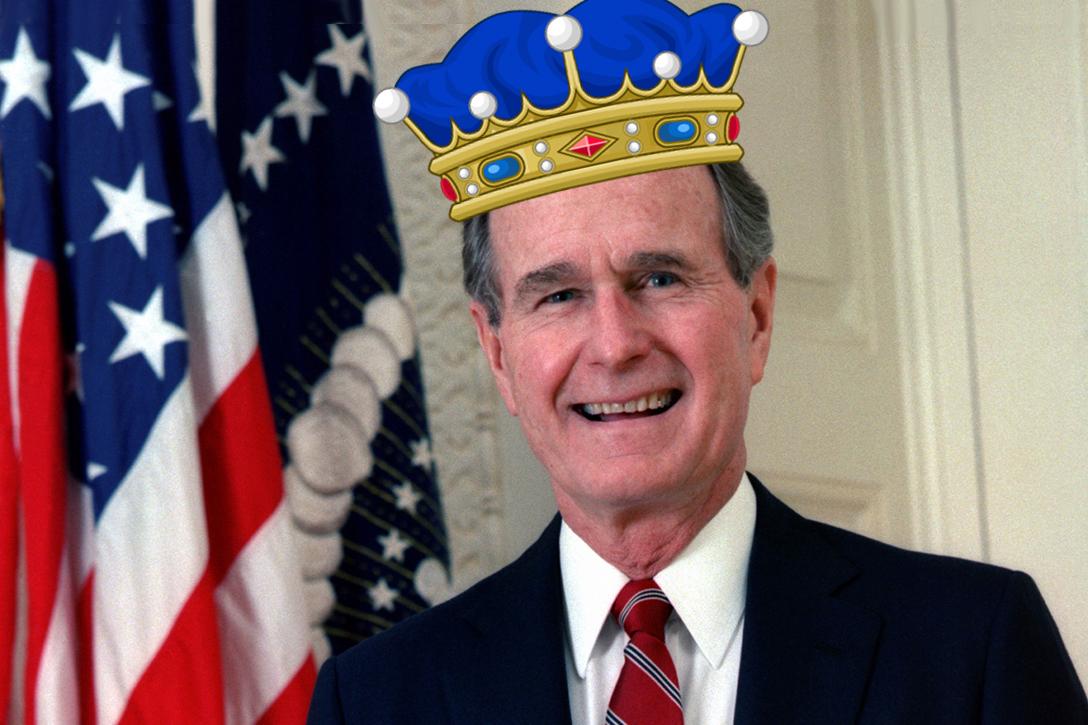 George H.W. Bush, king