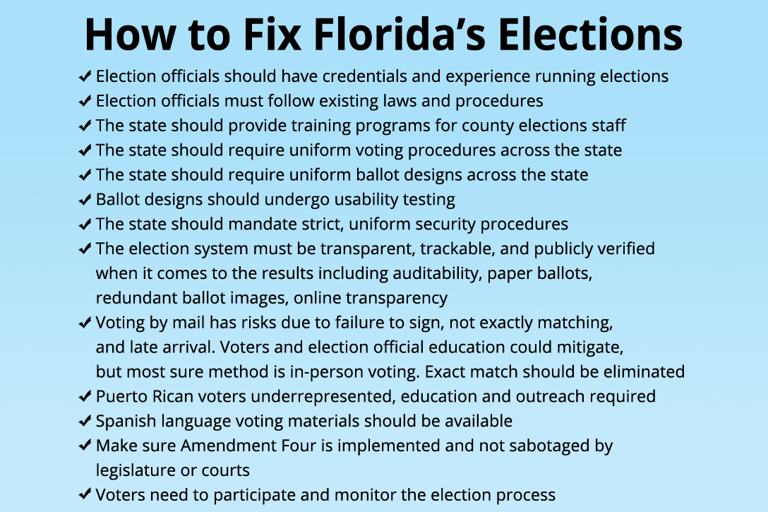 How to fix Florida Elections