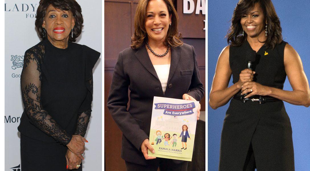 Maxine Waters, Kamala Harris, Michelle Obama