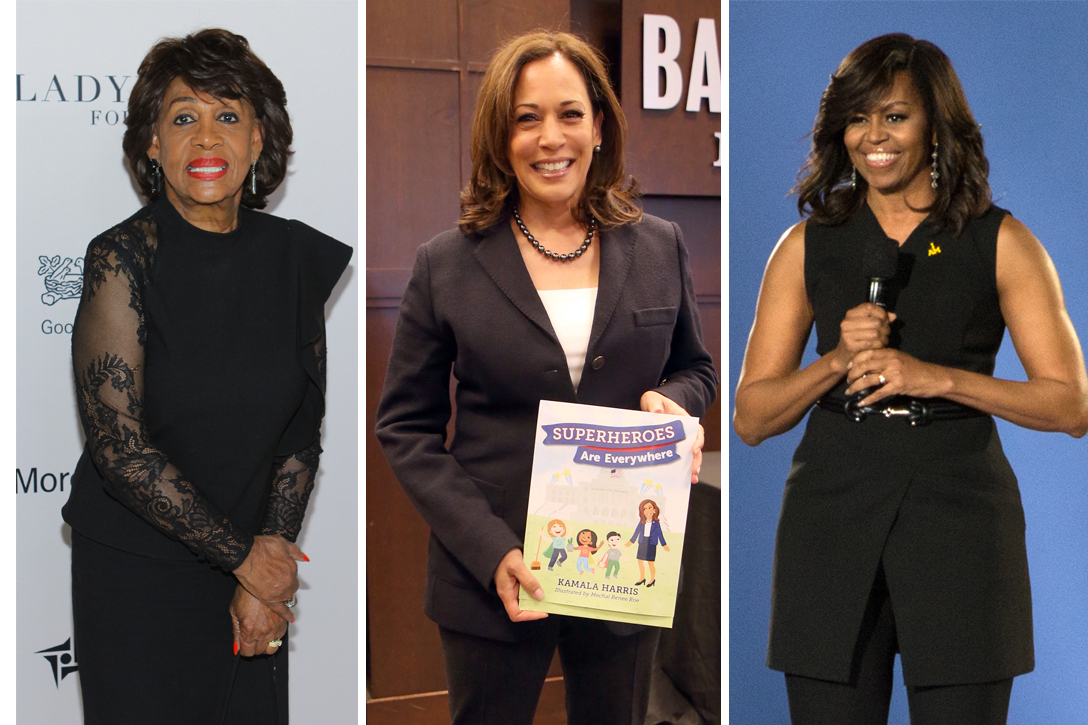 Maxine Waters, Kamala Harris, Michelle Obama