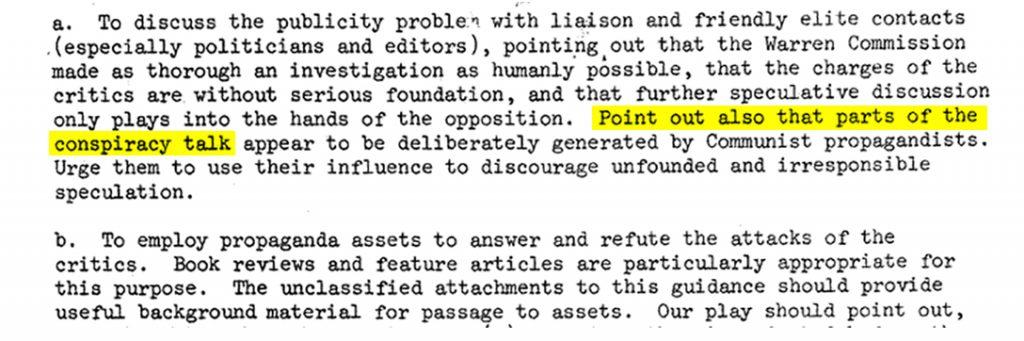 CIA, conspiracy