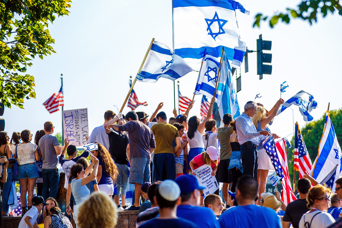 Pro Israel Rally in Los Angeles, California