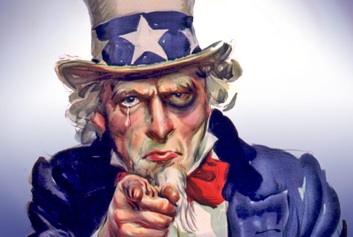 Uncle Sam, black eye