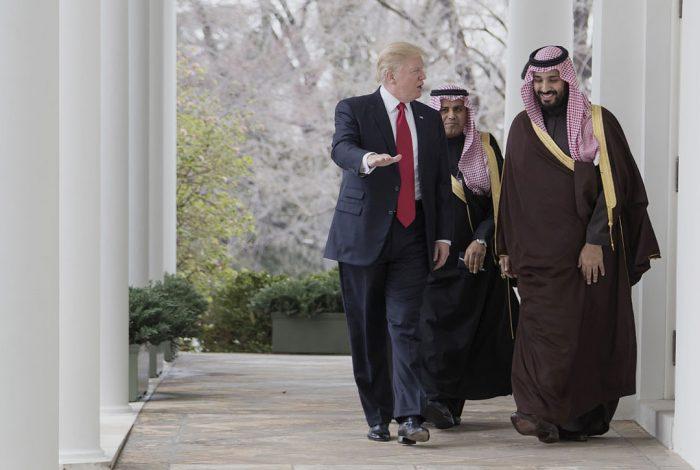 Crown Prince of Saudi Arabia, Mohammed bin Salman Al Saud with Donald Trump