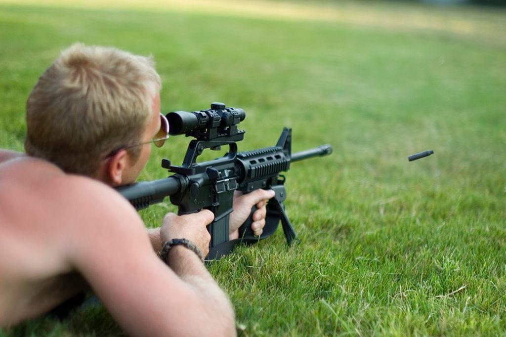 AR-15, semi-automatic