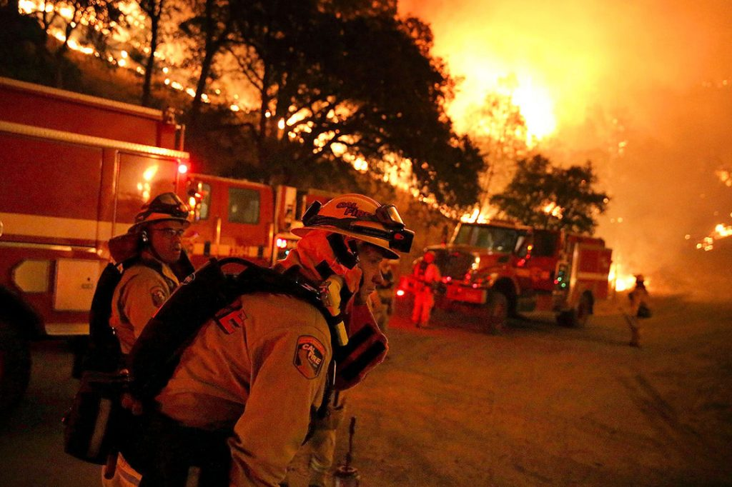 Wildfire, Clearlake, California