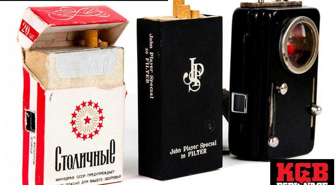 cigarette pack cameras, KGB Espionage Museum