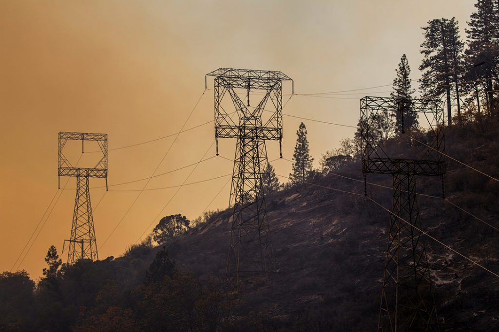 Power lines, Camp Fire