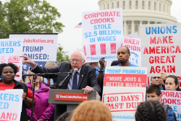 Senator Bernie Sanders Wages Rally