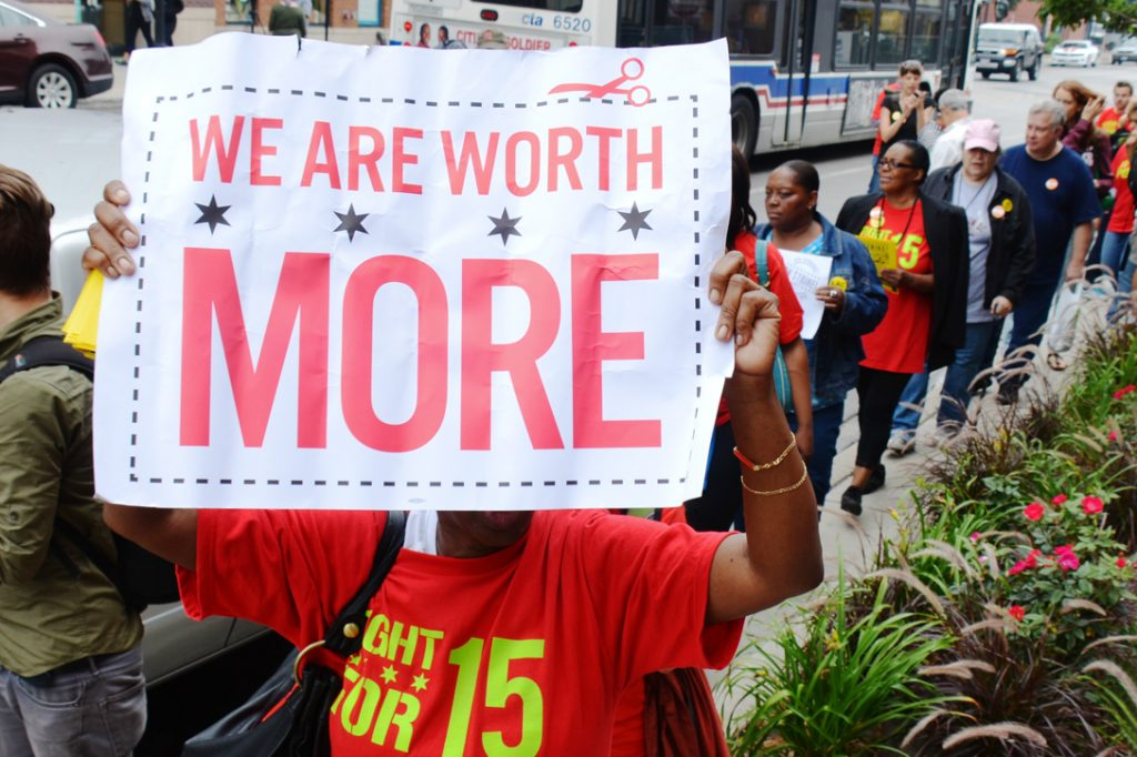 Minimum Wage Protesters March