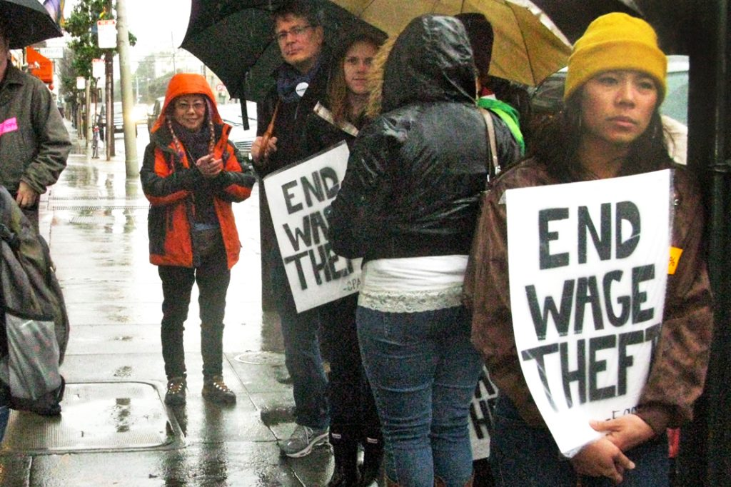 End Wage Theft Protesters