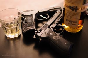 guns, whiskey