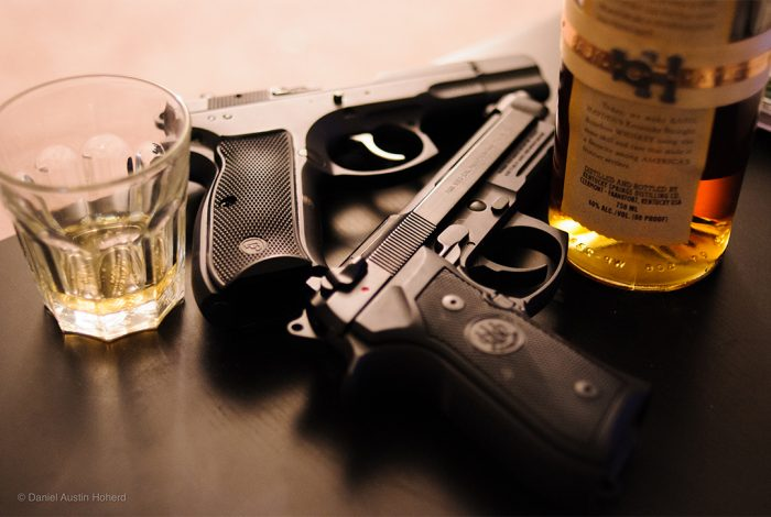 guns, whiskey