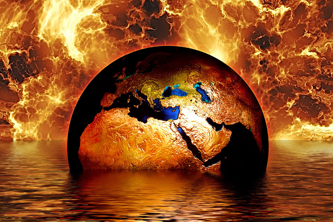 The Earth Melting on Fire