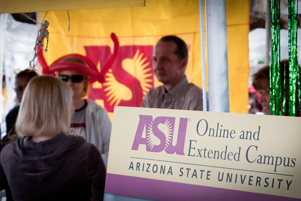 ASU booth, Arizona State University