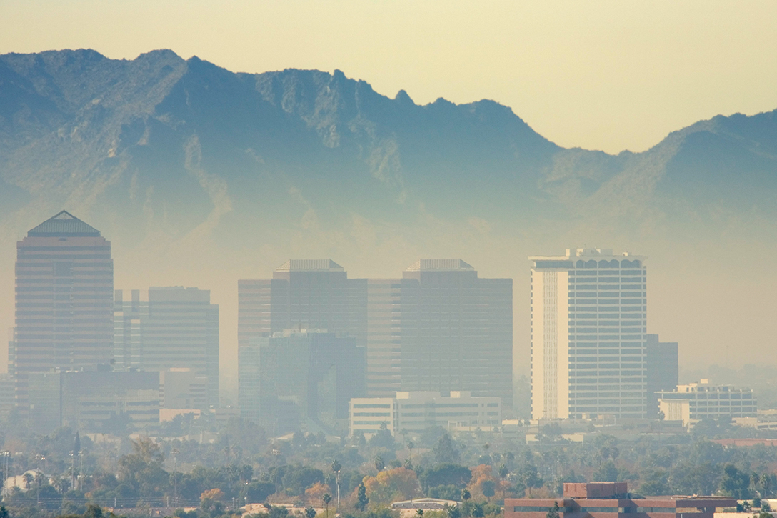 Phoenix, particulate pollution