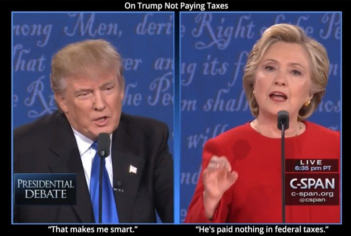 Donald Trump, Hillary Clinton, debate