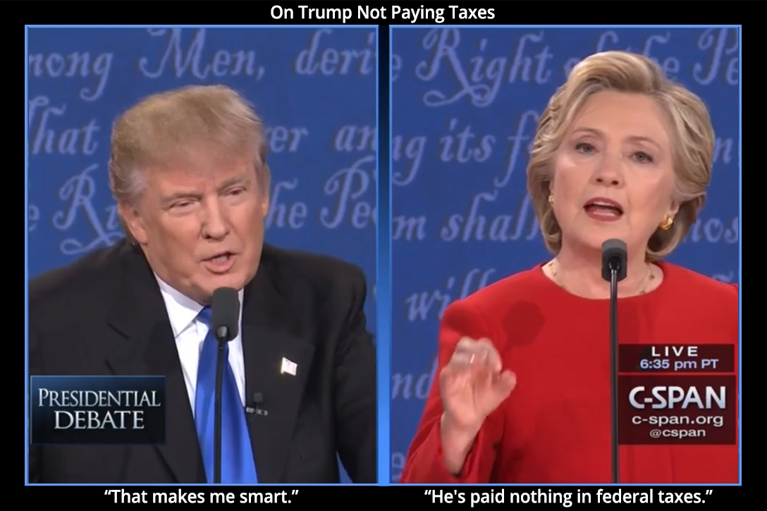 Donald Trump, Hillary Clinton, debate