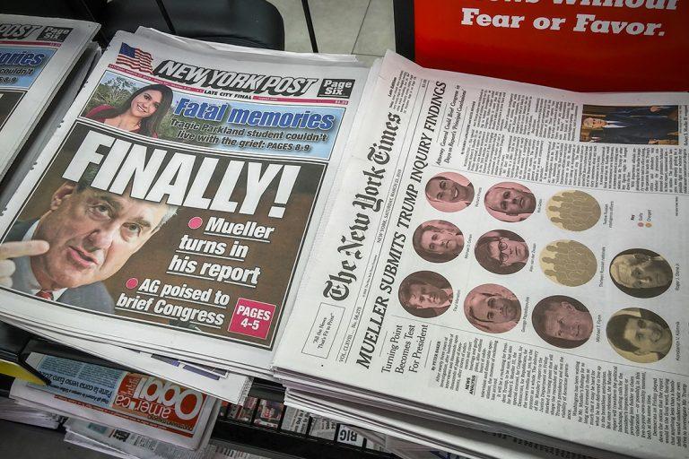 Mueller Report, headlines