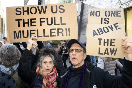 Mueller report, protest