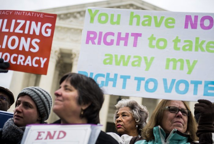 voting rights, purging, protest