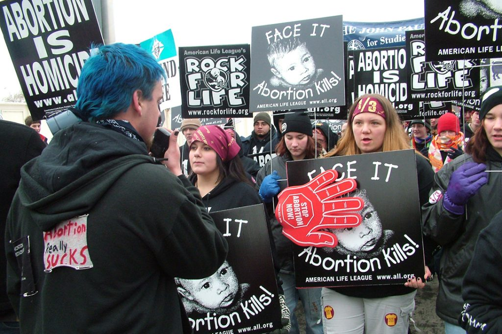 anti-abortion protest