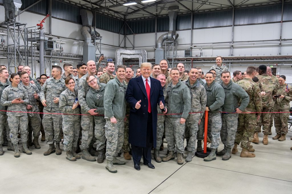 Donald Trump, Ramstein Air Force Base