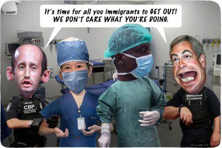 healthcare, immigration, Stephen Miller, Nigel Farage