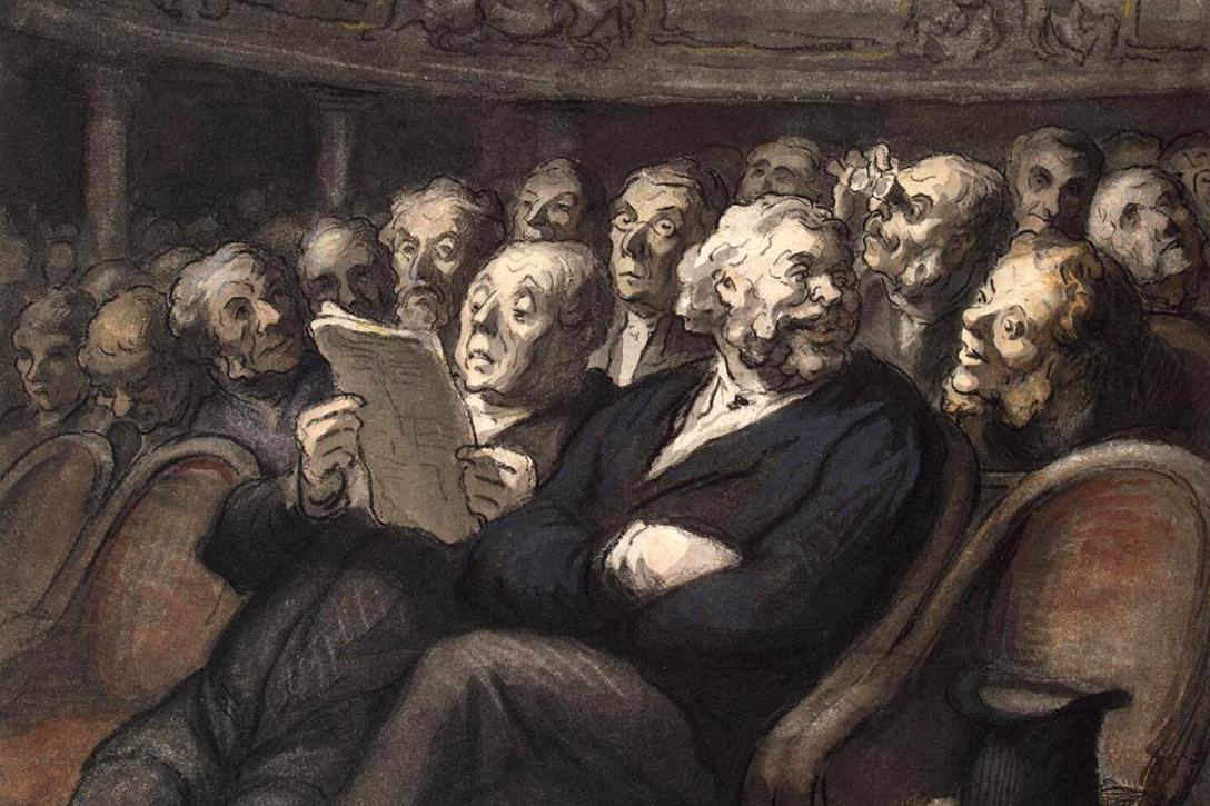 Honoré Daumier - Intermission at the Comédie Française