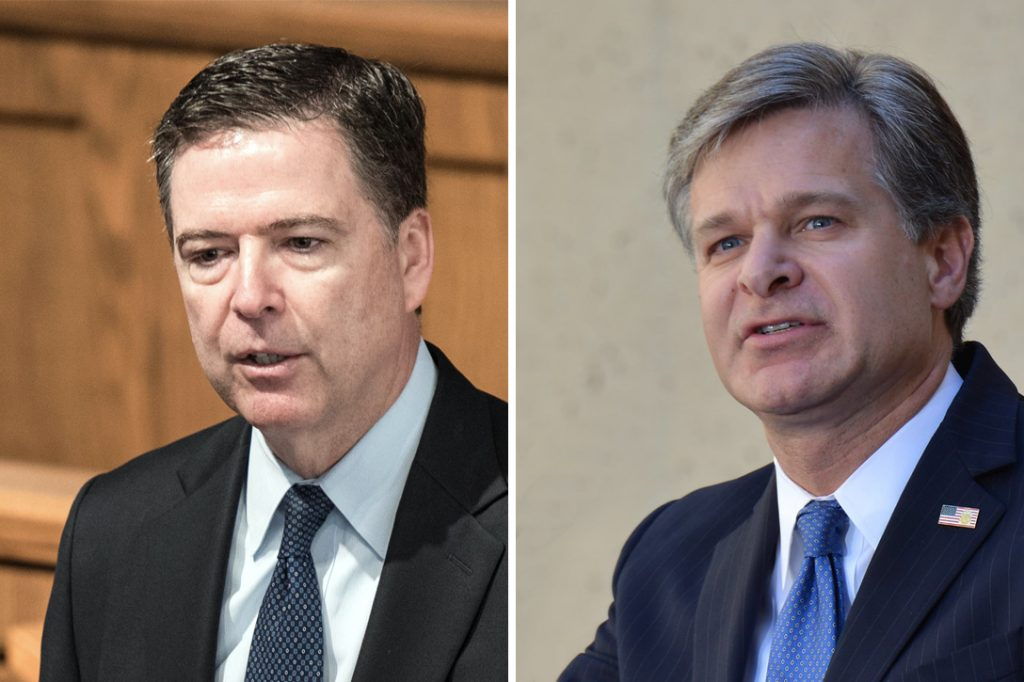James Comey, Christopher Wray
